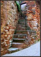 Schmale Treppe