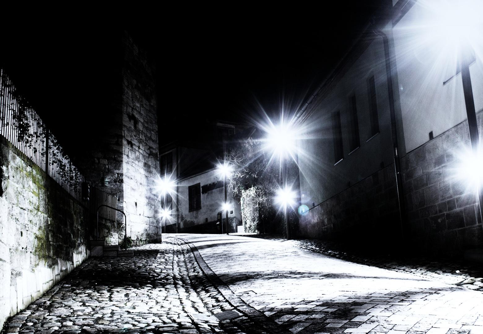 Schmalkalden bei Nacht