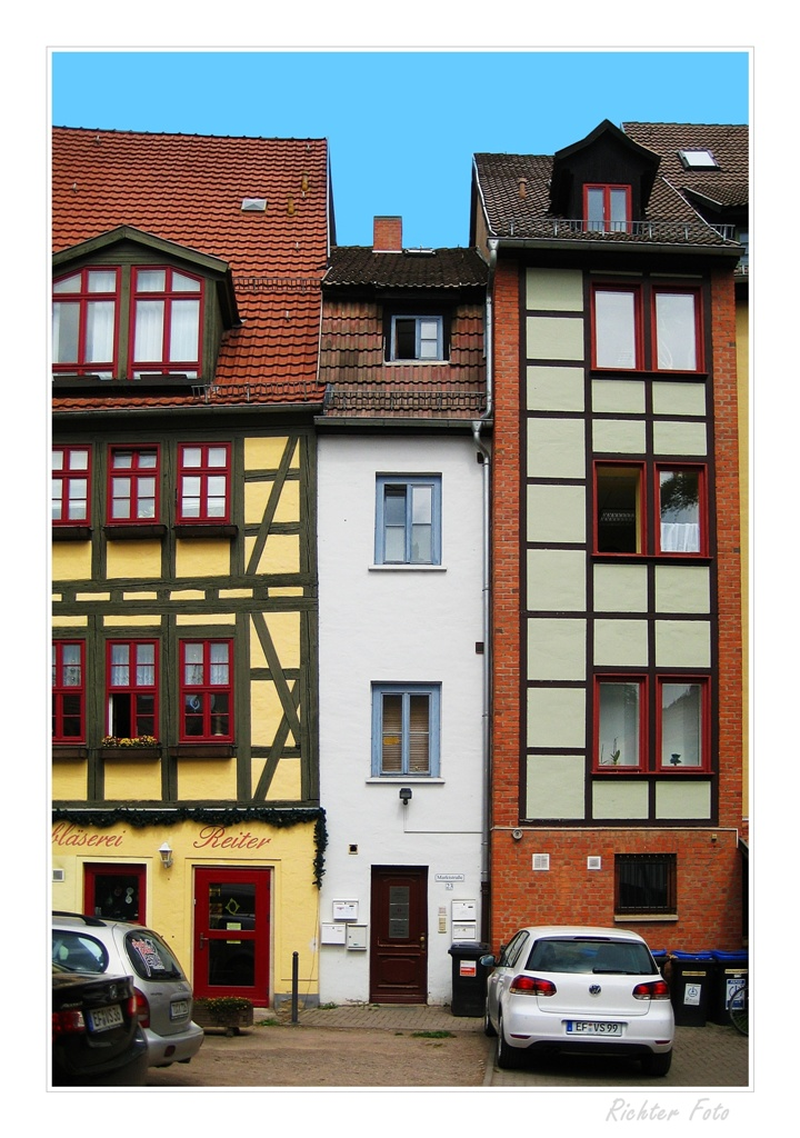Schmalstes Haus von Erfurt Foto & Bild