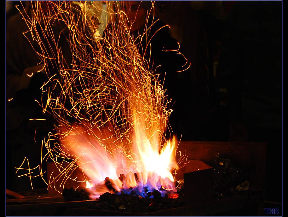 Schmiedefeuer - Feuer aus Kohle