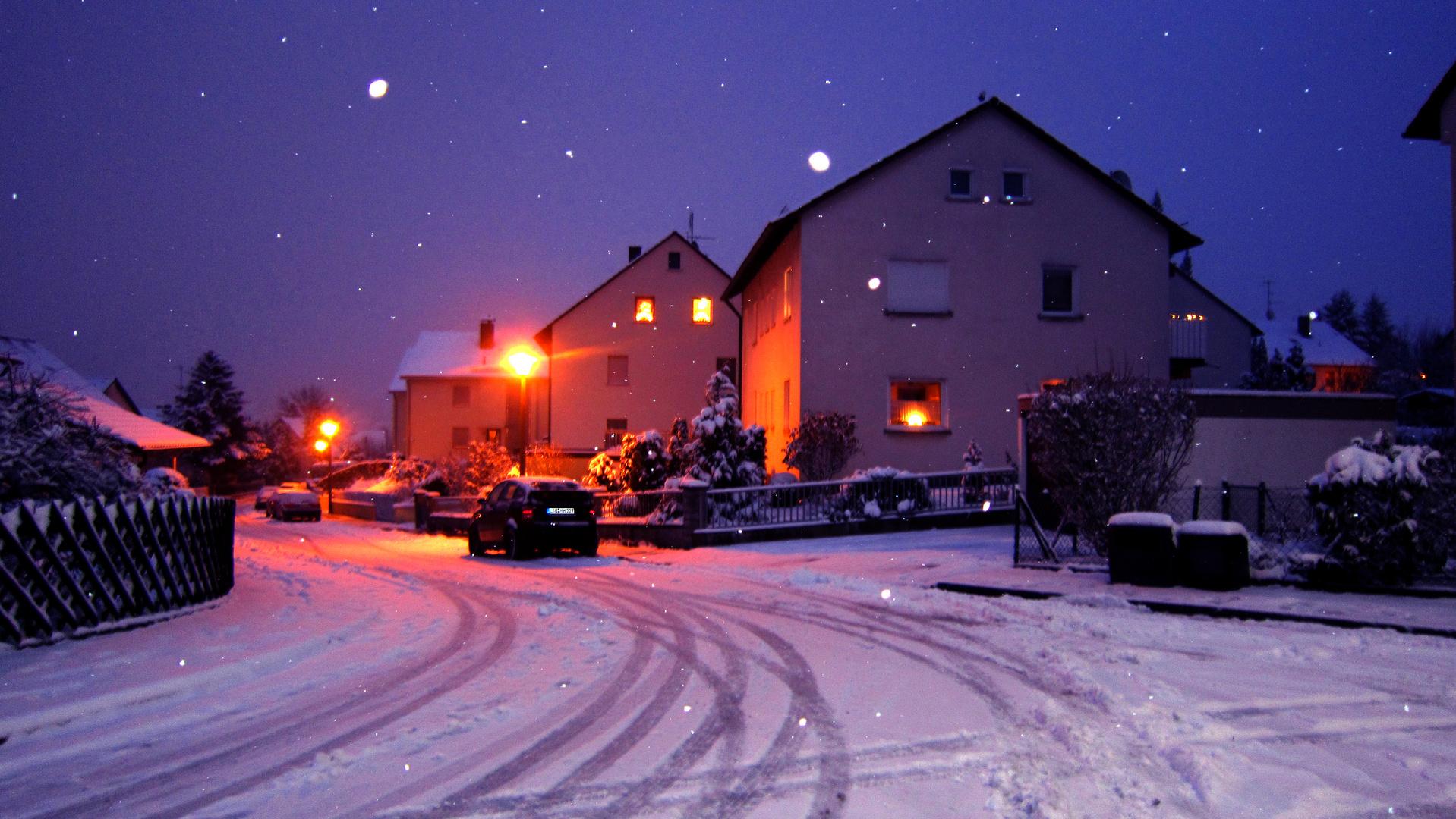 Schnaittach Winter Schnee Abendstimmung