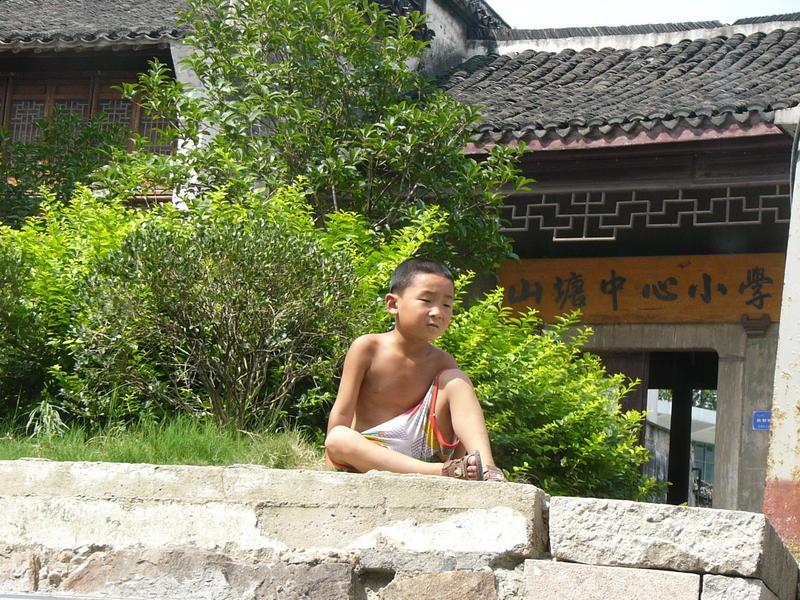 Schnappschuß vom Kaiserkanal (China) aus