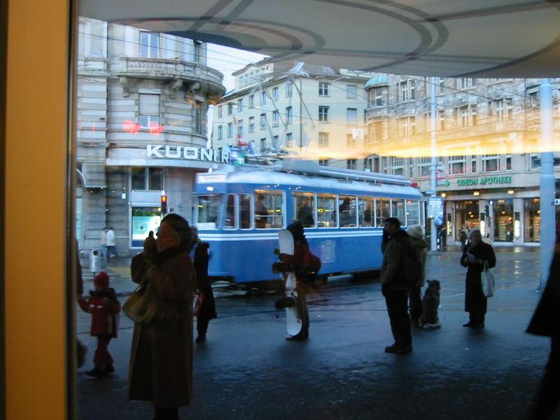 Schnappschuss von Museums-Tram in Zürich