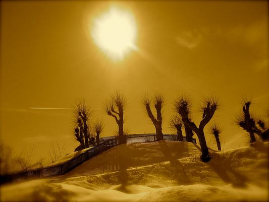 Schnee am Mars