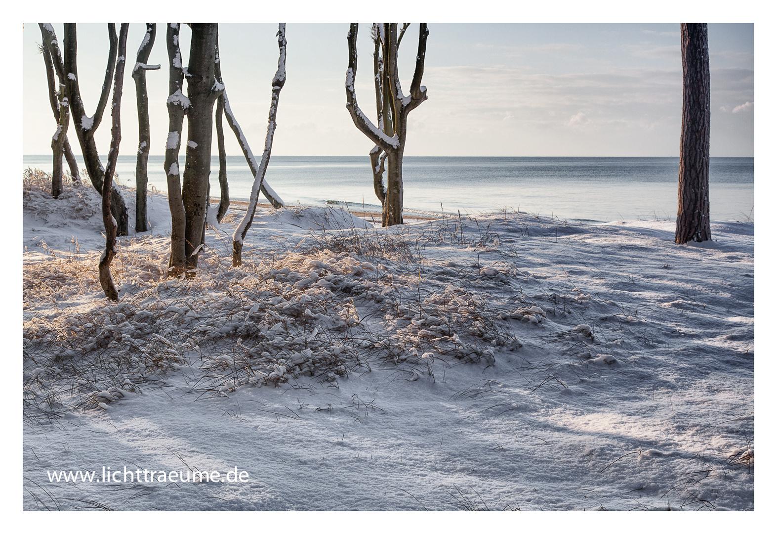 Schnee am Weststrand 2