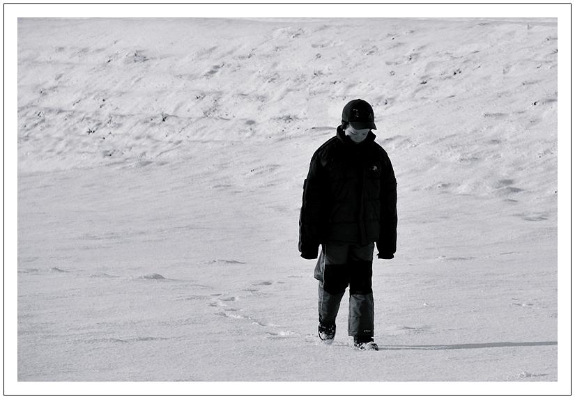 Schnee an der Nordsee............