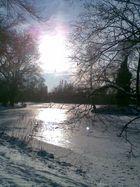 Schnee an Sonne