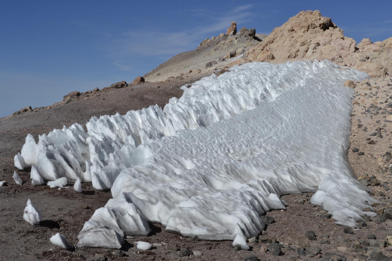 Schnee auf dem Teide