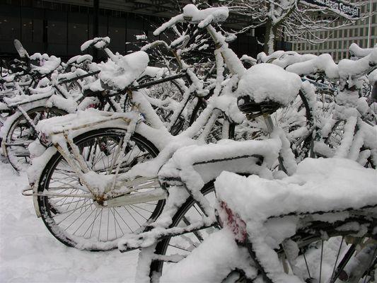 Schnee Fahrrad