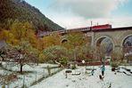 """""""Schnee im Oktober"""", Adlitzgraben alias Fleischmannviadukt, Semmering 19.10.2007"""