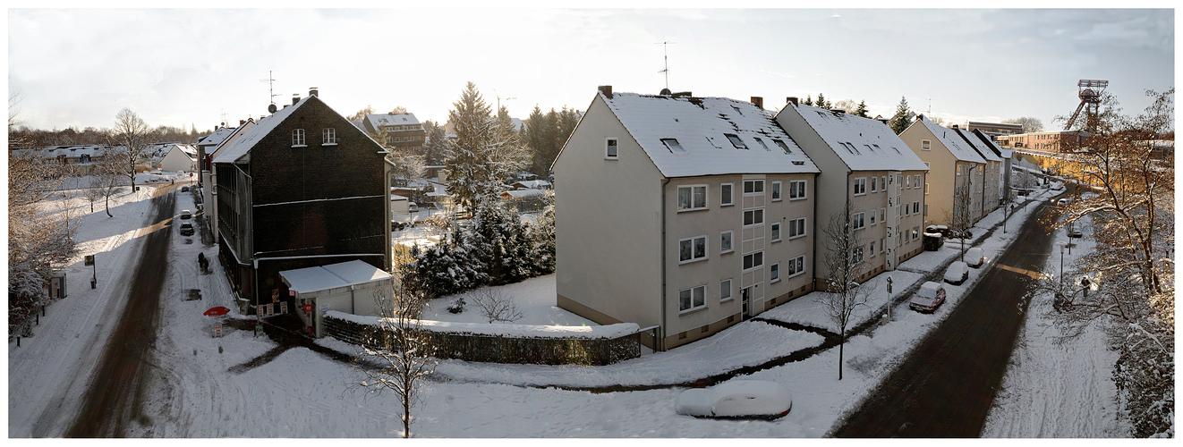 Schnee im Pott