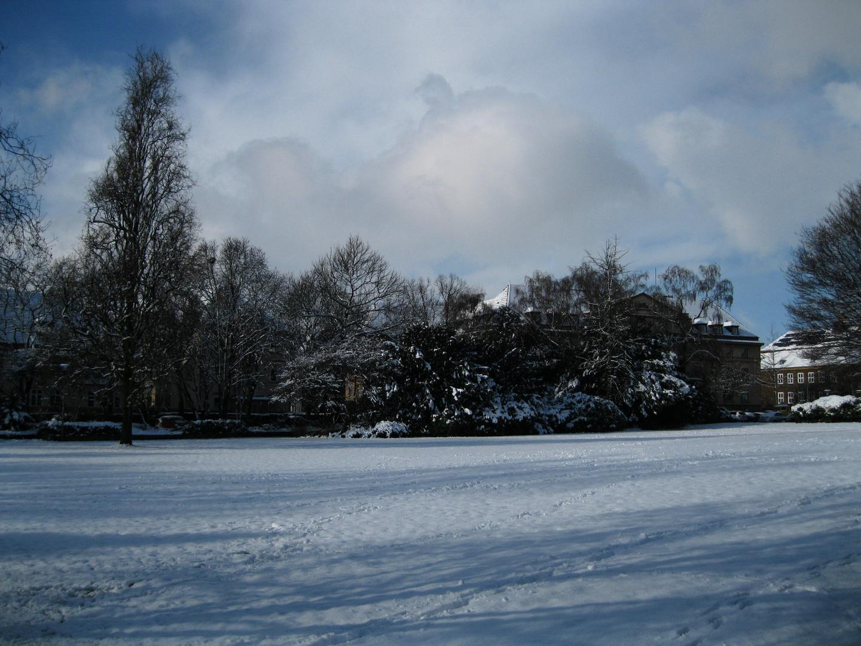 Schnee in Gladbeck City