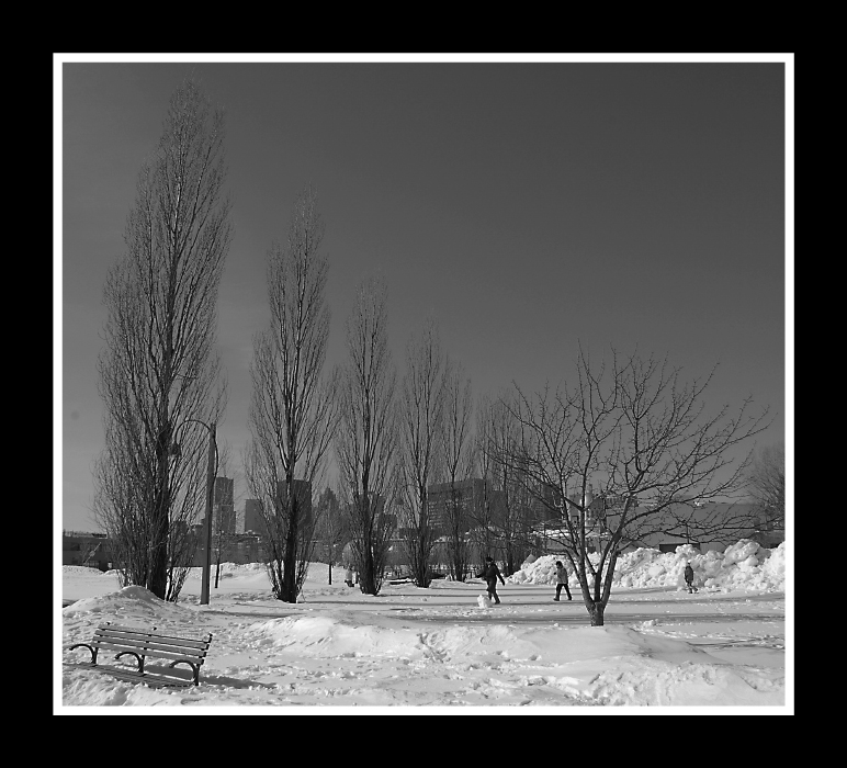 Schnee in Montreal