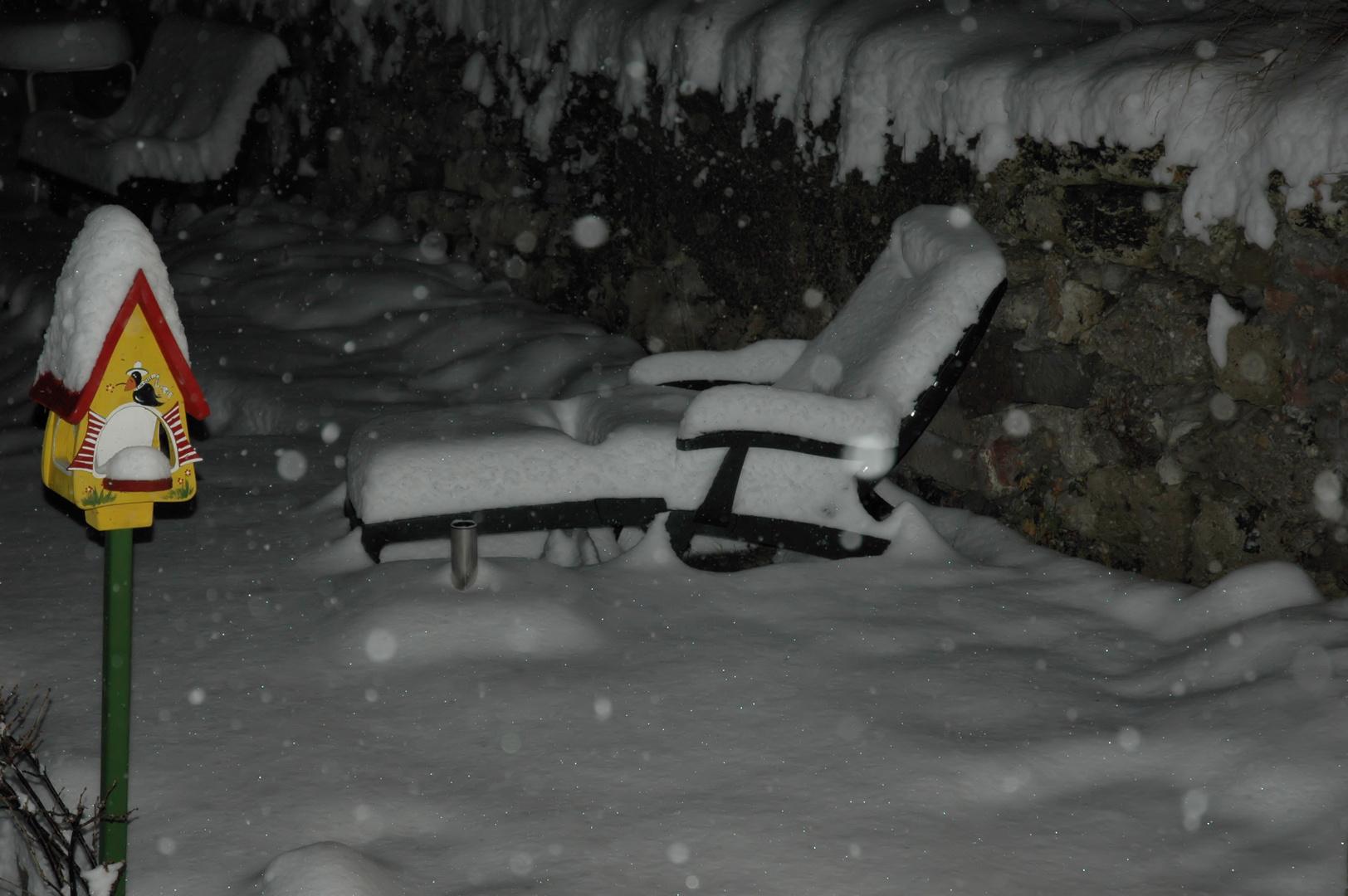 Schnee macht Pause