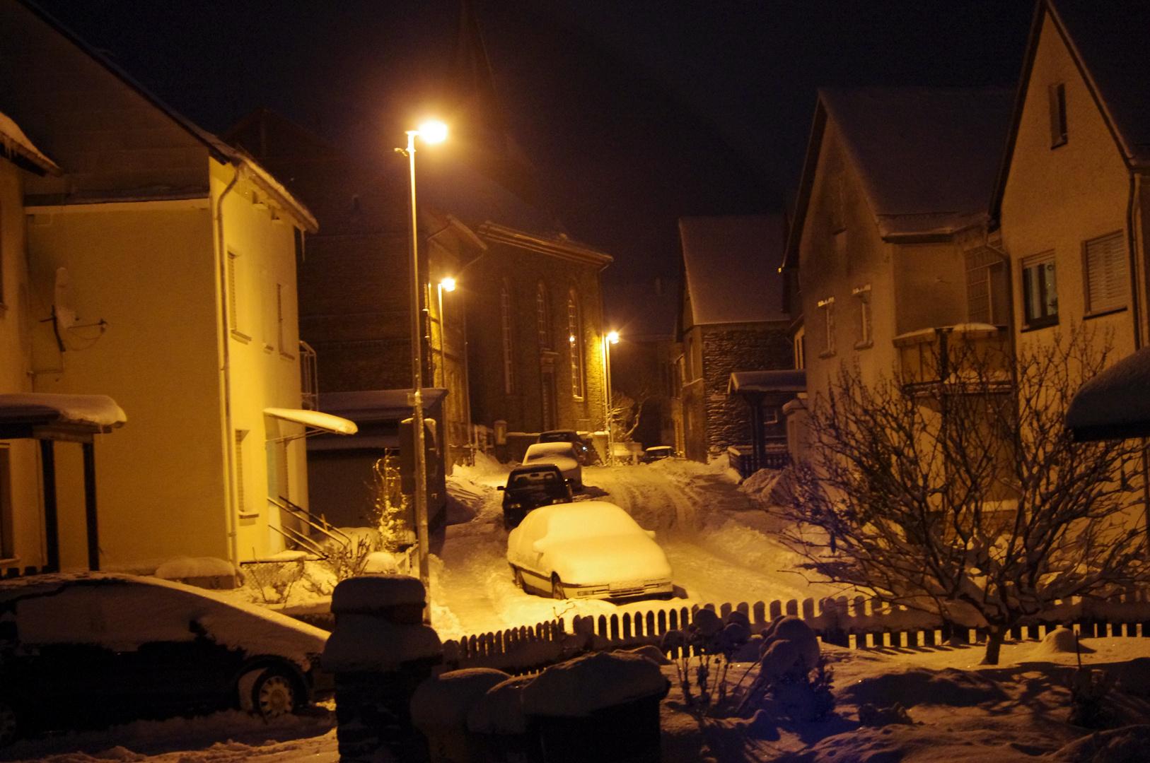 schnee nacht
