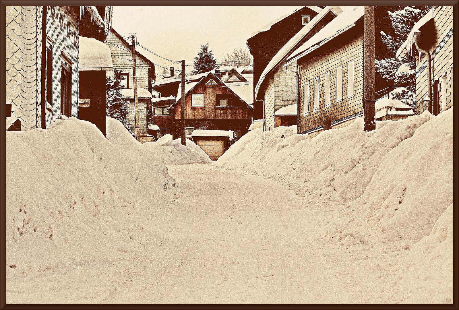 Schnee-satt.