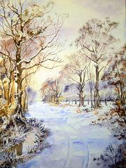 Schnee über den alten Rieselfelder