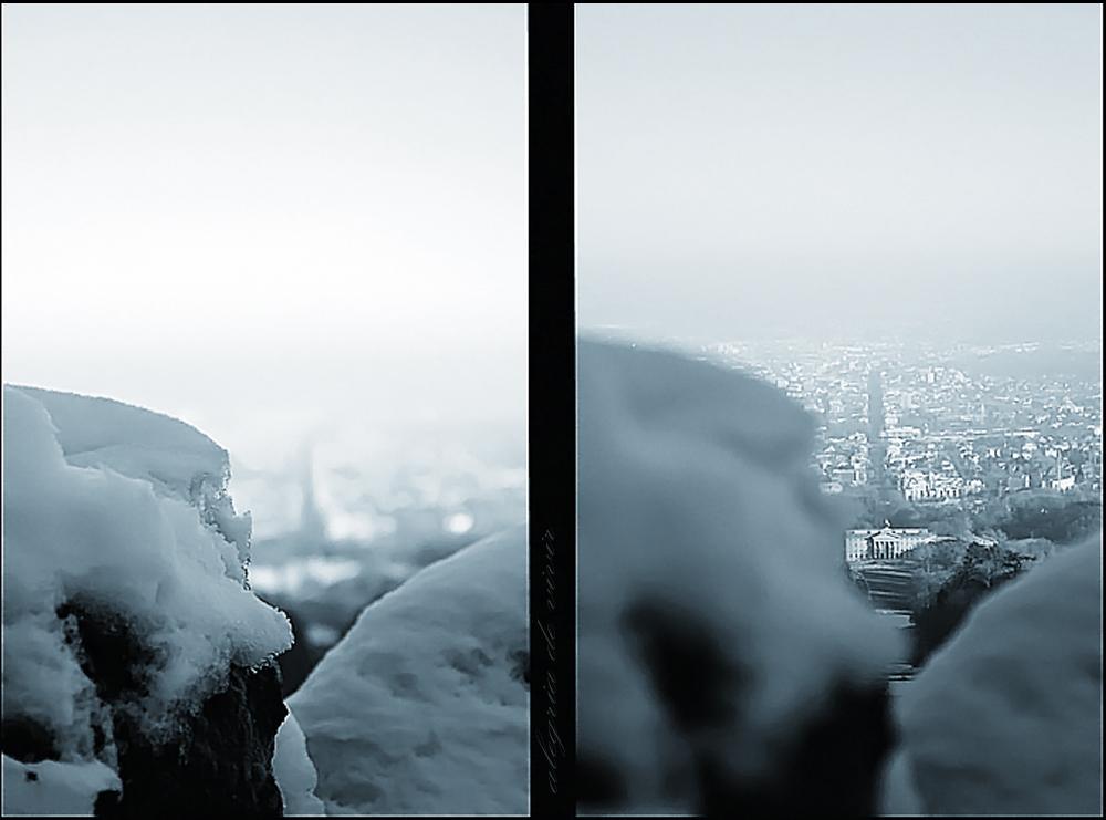 Schnee über Kassel