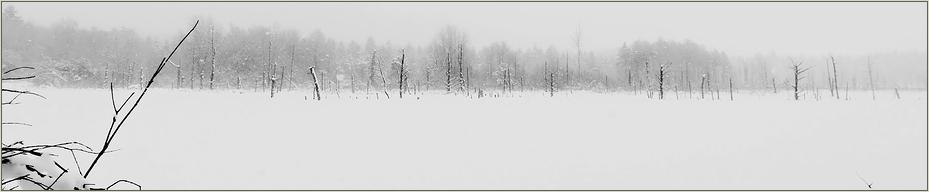 Schnee überm Moorsee