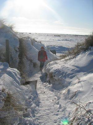 Schnee und Eis auf Laeso/Dänemark