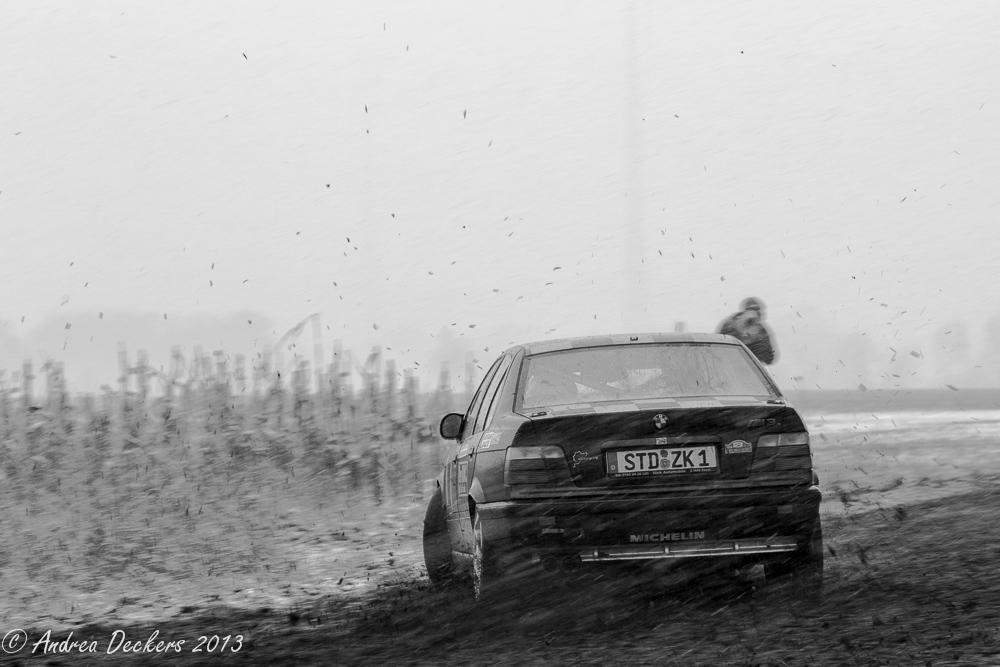 Schnee- und Matsch-Rallye in Stade II