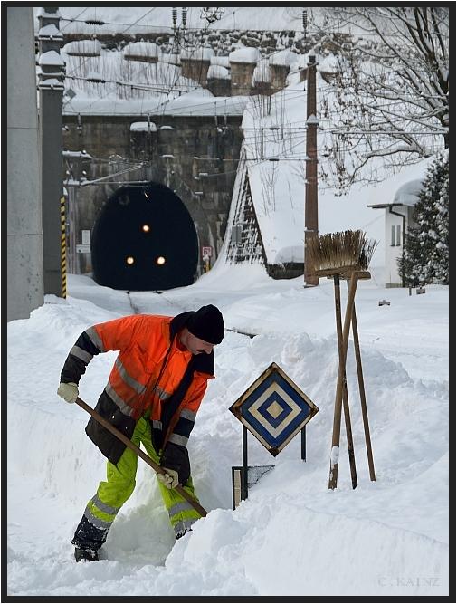 Schneearbeiter