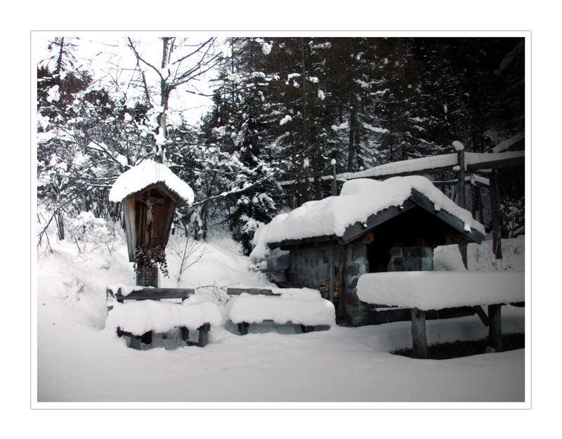 Schneebedeckter Backofen