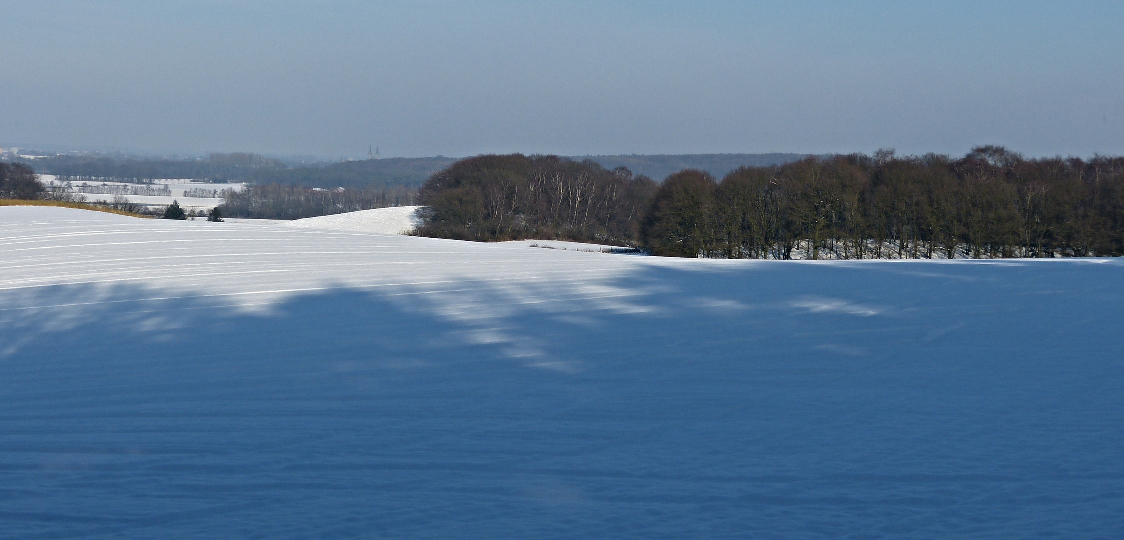 Schneebedeckter Niederrhein