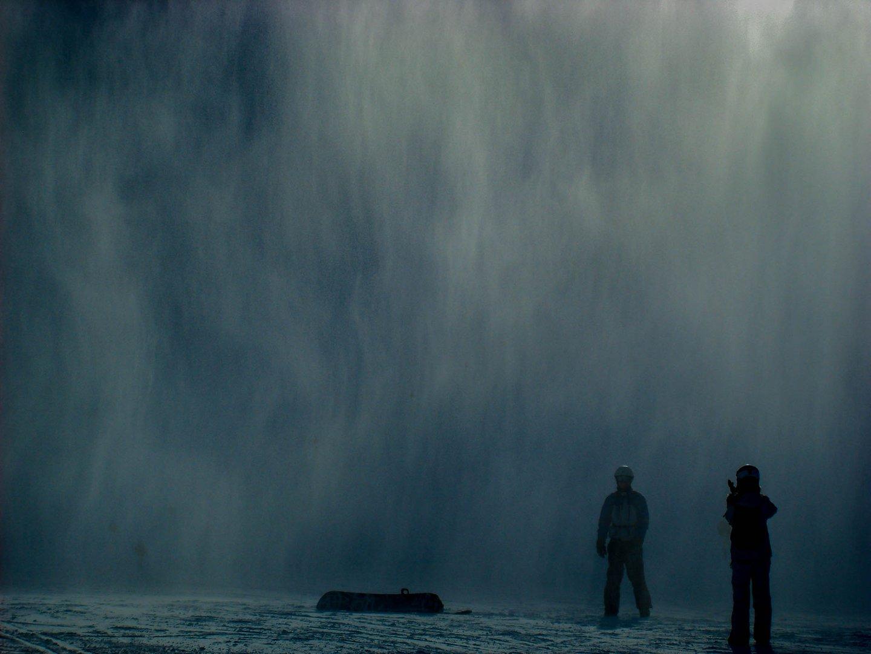 Schneedusche im Weltall...