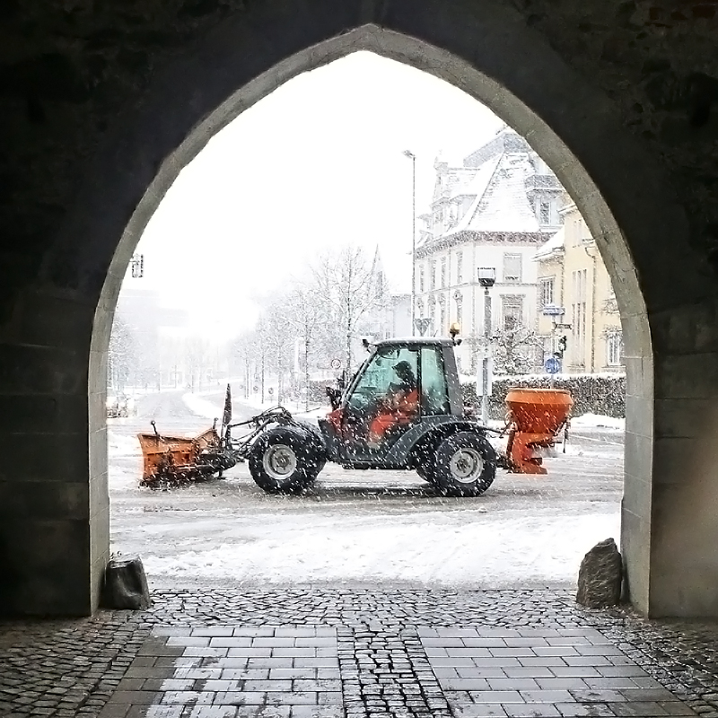 Schneefall ...