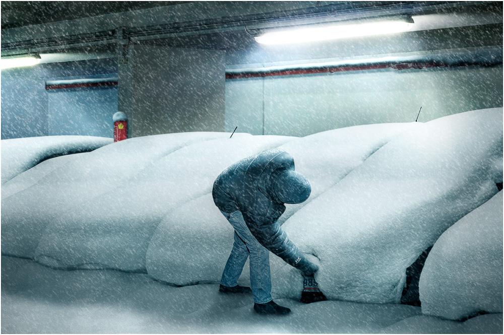 Schneefall bis in die Niederungen