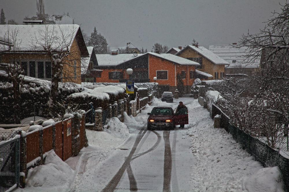 Schneefall in Gratwein!