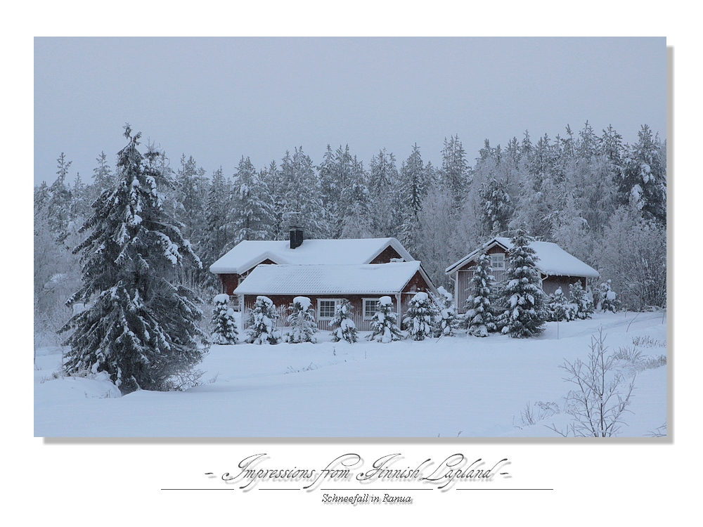 Schneefall in Ranua