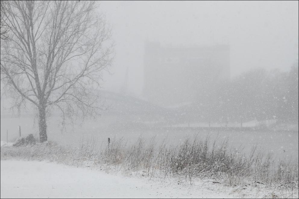 Schneefall Weser #1