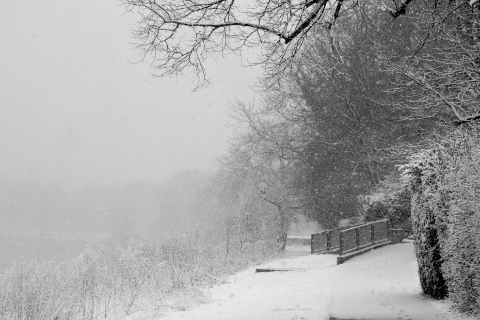 Schneefall Weser #2
