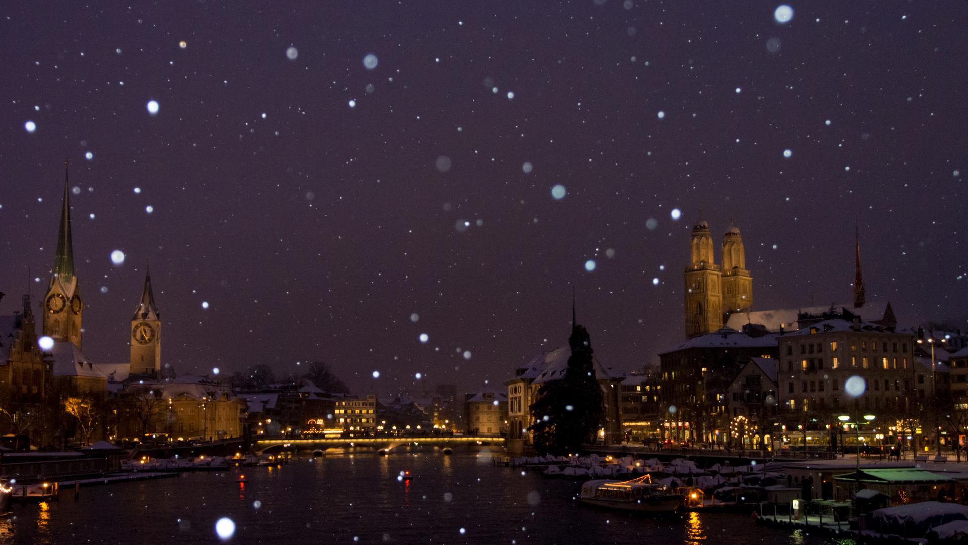 Schneegehudel in Zürich