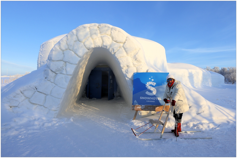 Schneehotel in Kirkenes