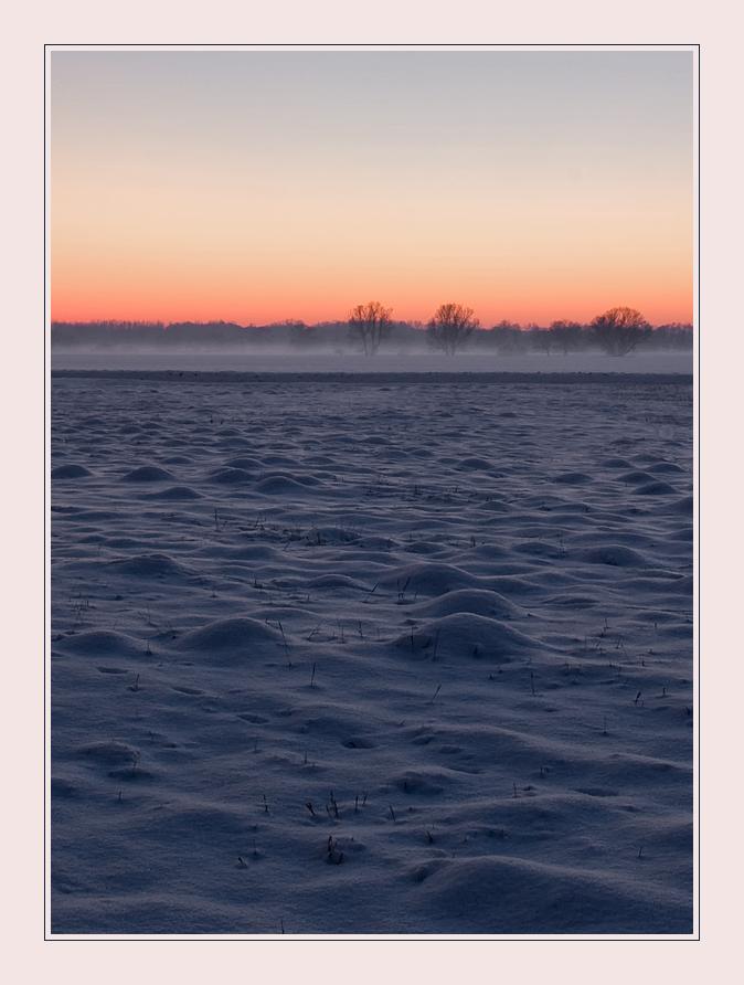 Schneehügeln