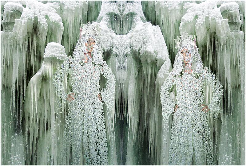 Schneeköniginnen durchziehen das Land...