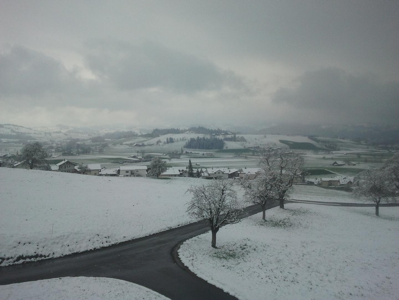 Schneelandschaft an Ostern