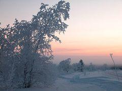 Schneelandschaft Finnland