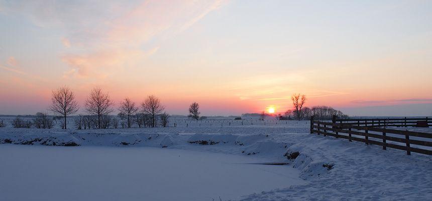 Schneelandschaft in Dangast