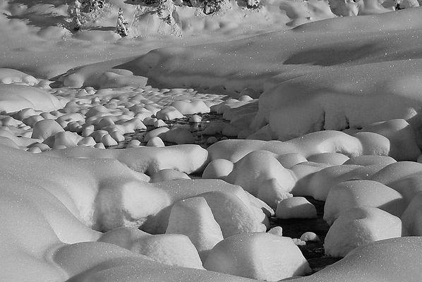 Schneelandschaft in Fanes