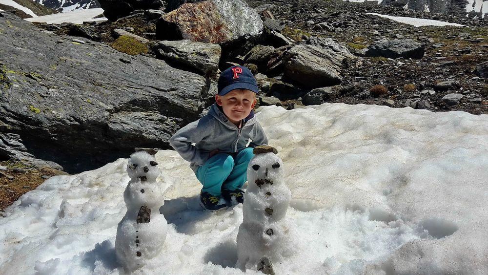 Schneemänner im Juli