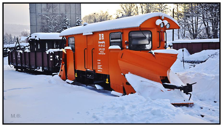 Schneepflug Preßnitztalbahn
