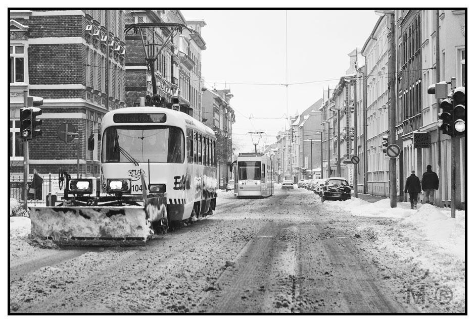 Schneepflug - Straßenbahn Gera