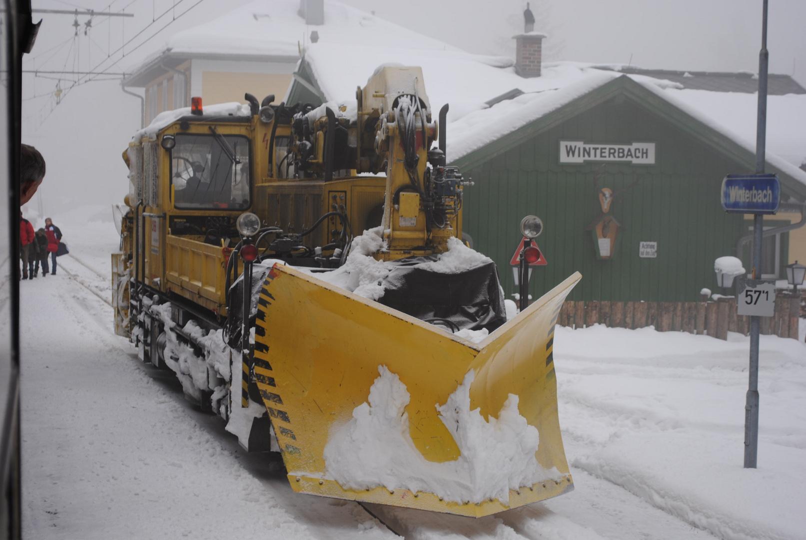 Schneeräumung Mariazellerbahn