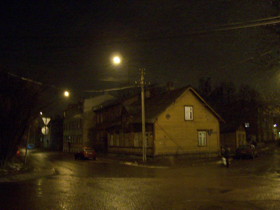 Schneeregen in Tallinn