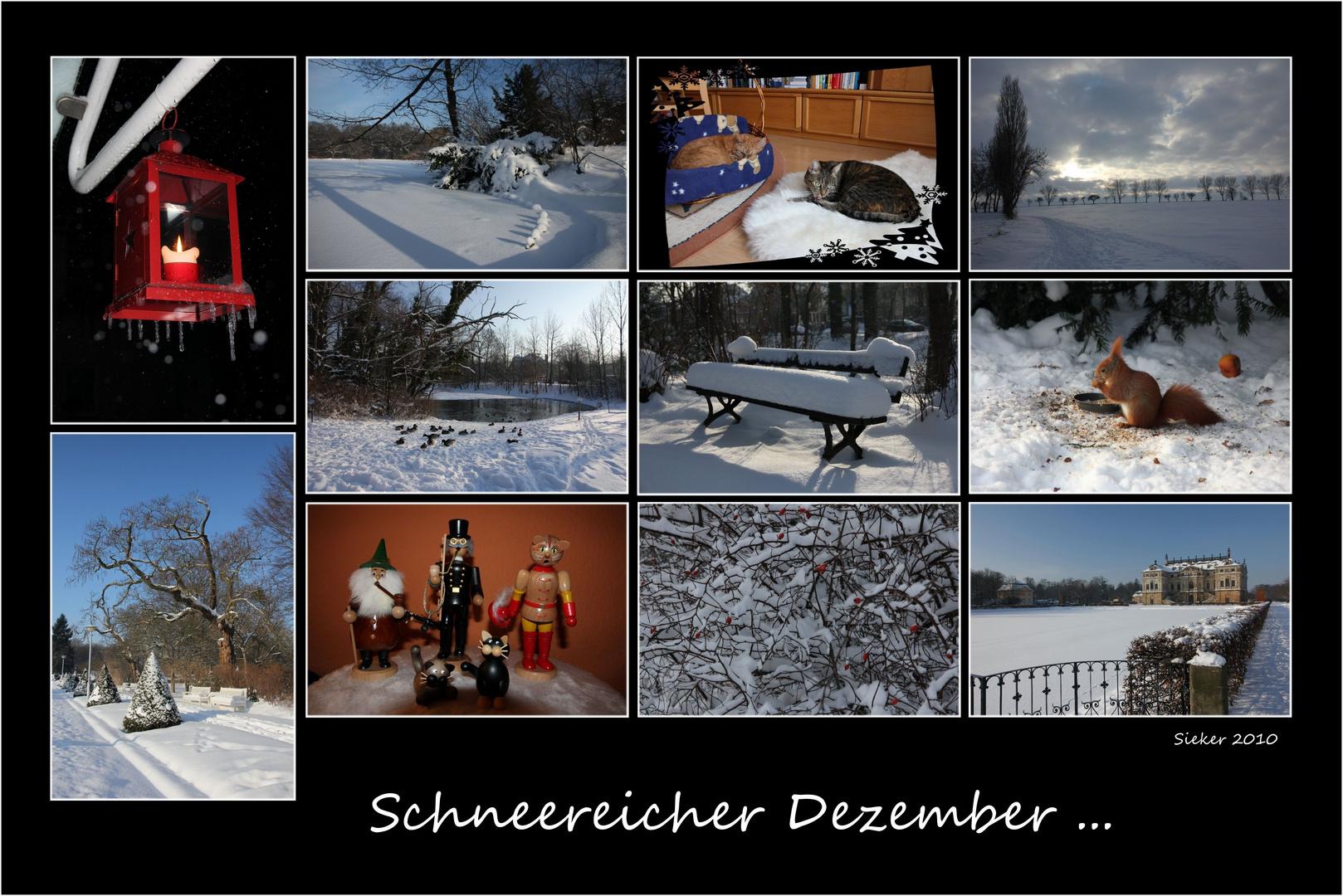Schneereicher Dezember ...