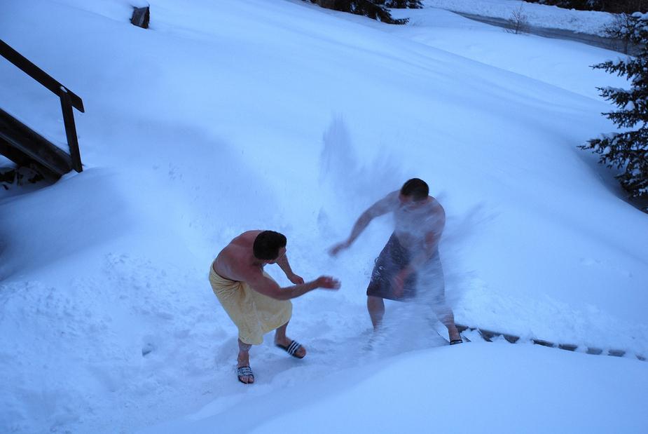 Schneeschlacht von Andreas Baumgärtner